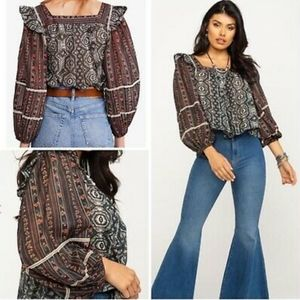 Free People mostly meadow boho blouse